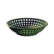 Tablecraft 8'' Round Serving Baskets, Forest Green
