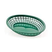 Tablecraft 11-3/4'' x 9'' Oval Jumbo Baskets, Forest Green