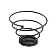 Tablecraft 7'' Black Powder Coated Galaxy Bread Basket