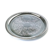 TableCraft CT14 Chrome-Plated Metal Serving Tray, Silver