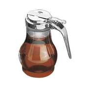 Tablecraft 10 oz Polycarbonate Teardrop Syrup Dispensers, Chrome Plated