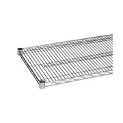 Thunder Group CMSV1424, 24'' x 14'' Chrome Plated Wire Shelves w/ 4 Piece Plastic Chip