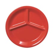 Thunder Group 10-1/4'' Three Compartment Plate, Pure Red