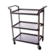 Thunder Group PLBC3316G, 33 1/2'' Plastic 3-Tier Bus Cart