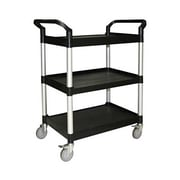 Thunder Group PLBC4019B Plastic 3-Tier Bus Cart, Black
