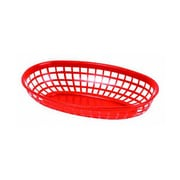 Thunder Group 9-3/8'' Oblong Basket, Red