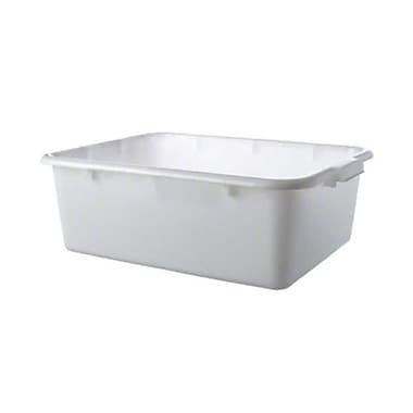 Thunder Group PLBT007W, 8'' White Freezer-Safe Bus Tub