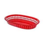 Update International Oval Fast Food Baskets, Red