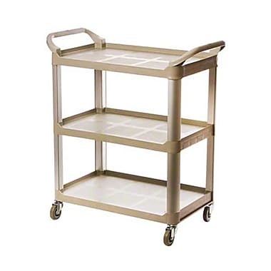 Update International BC-2416LGZ, 31'' Aluminum 3-Tier Heavy Duty Bus Cart