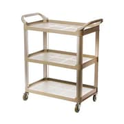 Update International BC-2416LGZ Aluminum/Plastic Bus Cart, Gray