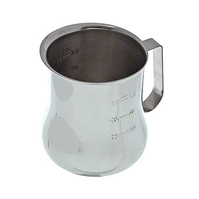 Update International EPB-40M, 40 Oz Stainless Steel Frothing Pitcher w/Measuring Scale 417407