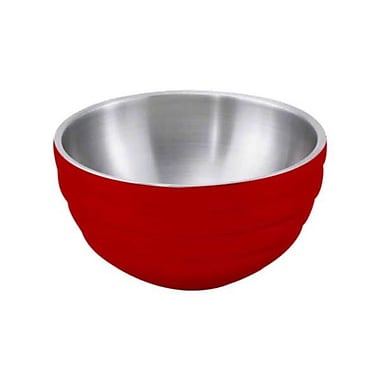 Vollrath 10.1 Qt. Beehive Style Double Wall Serving Bowl, Dazzle Red