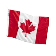 Baumgartens® Stitched Nylon Canadian Flags, Red/White