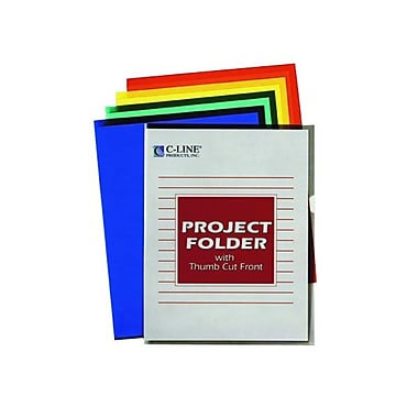 C-Line® Letter Recycled Coloured Project Folders, Assorted, 25/Box