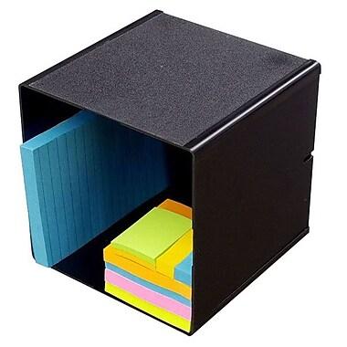 Deflecto® Stackable Cube Organizer, Black