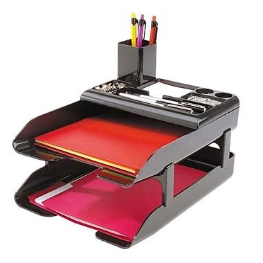 Deflecto® 2-Tier Corporate Desk Tray Set, 2-9/16