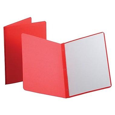 OxfordMD – Couverture de rapports avec panneau de titre et bordure avant, rouge, 25/paq.