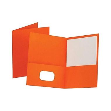 OxfordMD – Chemises à deux pochettes, format lettre, orange, 25/boîte