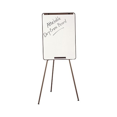 Quartet® Adjustable Flip-Chart/Dry-Erase Easel With Whiteboard, Black