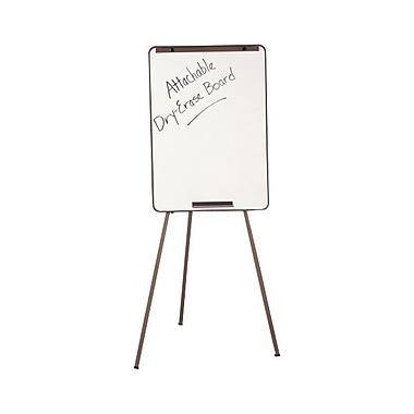 QuartetMD – Chevalet ajustable et tableau de conférence blanc effaçable à sec, noir