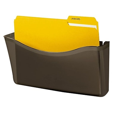 Rubbermaid® Unbreakable Magnetic Wall File Pocket, Smoke