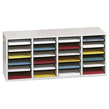 Safco® 24-Compartment Adjustable Literature Organizer, Grey