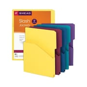 Smead® 11-Point Slash-Style File Jackets, Assorted Colours, 5/Pack