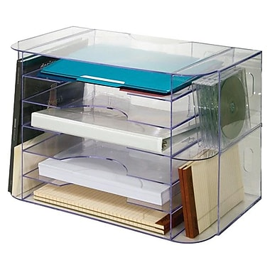 Sparco™ Jumbo Desk Sorter, Clear