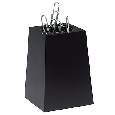 Esselte® Magnetic Paper Clip Holder, Black