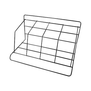 Winnable 14529 4-Section Steel Book Rack, Black