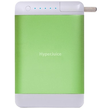 HyperJuice  15600 mAh Plug Dual USB External Battery/Charger, Chlorophyll Green