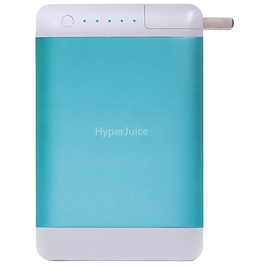 HyperJuice  15600 mAh Plug Dual USB External Battery/Charger, Atmosphere Blue
