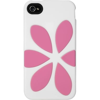 Agent18® FlowerVest Case For iPhone 4 & 4S, White/Pink