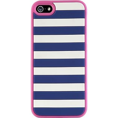 Agent18® StripeVest Case For iPhone 4 & 4S, Blue/Pink