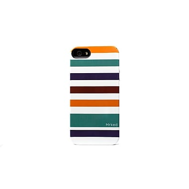 Mrked Colored Stripes Hybrid Case For iPhone 5/5S, Teal