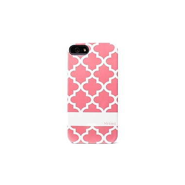 Mrked Moroccan Tiles Hybrid Case For iPhone 5/5S, Pink/White
