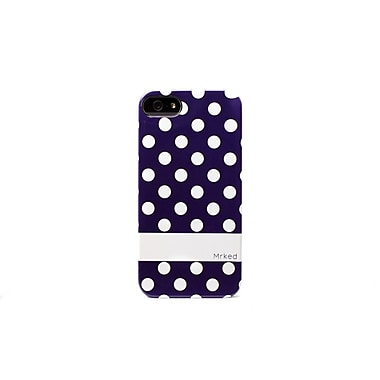 Mrked Polka Dots Hybrid Case For iPhone 5/5S, Navy/White