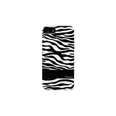 Mrked Zebra Hybrid Case For iPhone 5/5S, Black/White