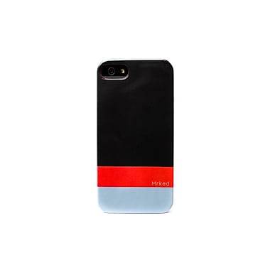 Mrked Hybrid Case For iPhone 5/5S, Dark Grey/Fire Red