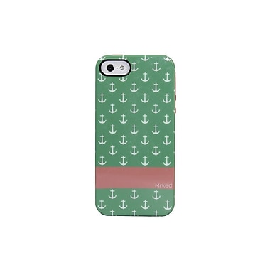 Mrked Anchors Hybrid Case For iPhone 5/5S, Emerald Pink