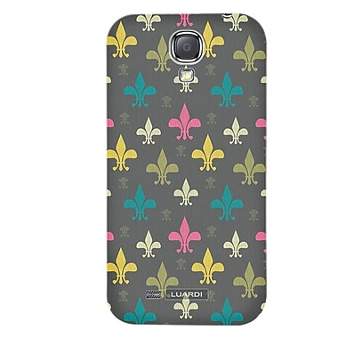 Luardi™ Fleur De Lis Snap On Hybrid Case For Samsung Galaxy S4, Multicolor