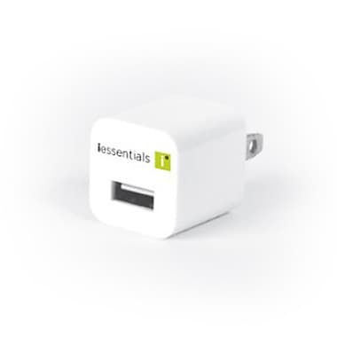 iEssentials Single USB Wall Charger, White