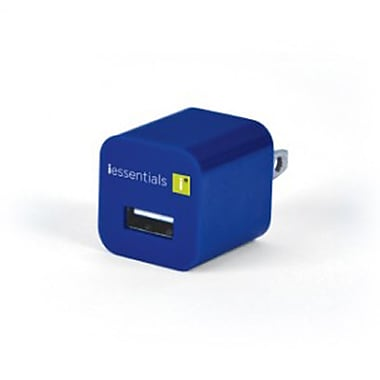 iEssentials Single USB Wall Charger, Blue