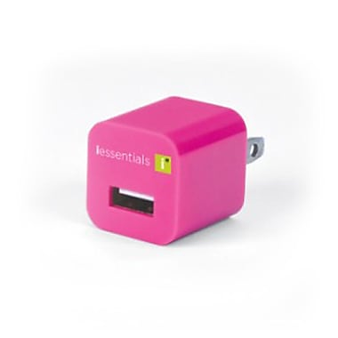 iEssentials Single USB Wall Charger, Pink