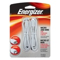 Energizer® Micro and Mini USB Charging Cable, White