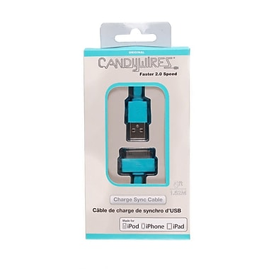Candywirez® 5' USB 2.0 30-Pin Sync/Charge Cables