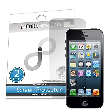 Infinite Products Anti-Microbial Screen Protector Film For iPhone 5, Clear, 2/Pack