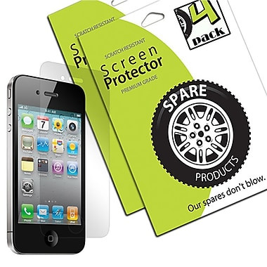 Spare Products Self-Healing Screen Protector Film For iPhone 4 & 4S, 4/Pack