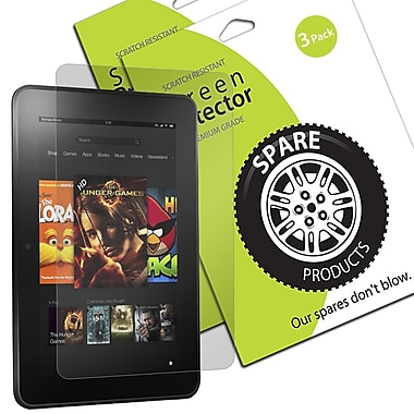Spare Products Screen Protector Film For Amazon Kindle Fire HD 8.9in., Clear, 3/Pack