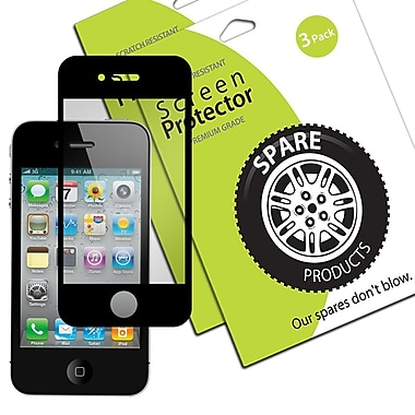 Spare Products Bubble Free Screen Protector Film For iPhone 4 & 4S, 3/Pack